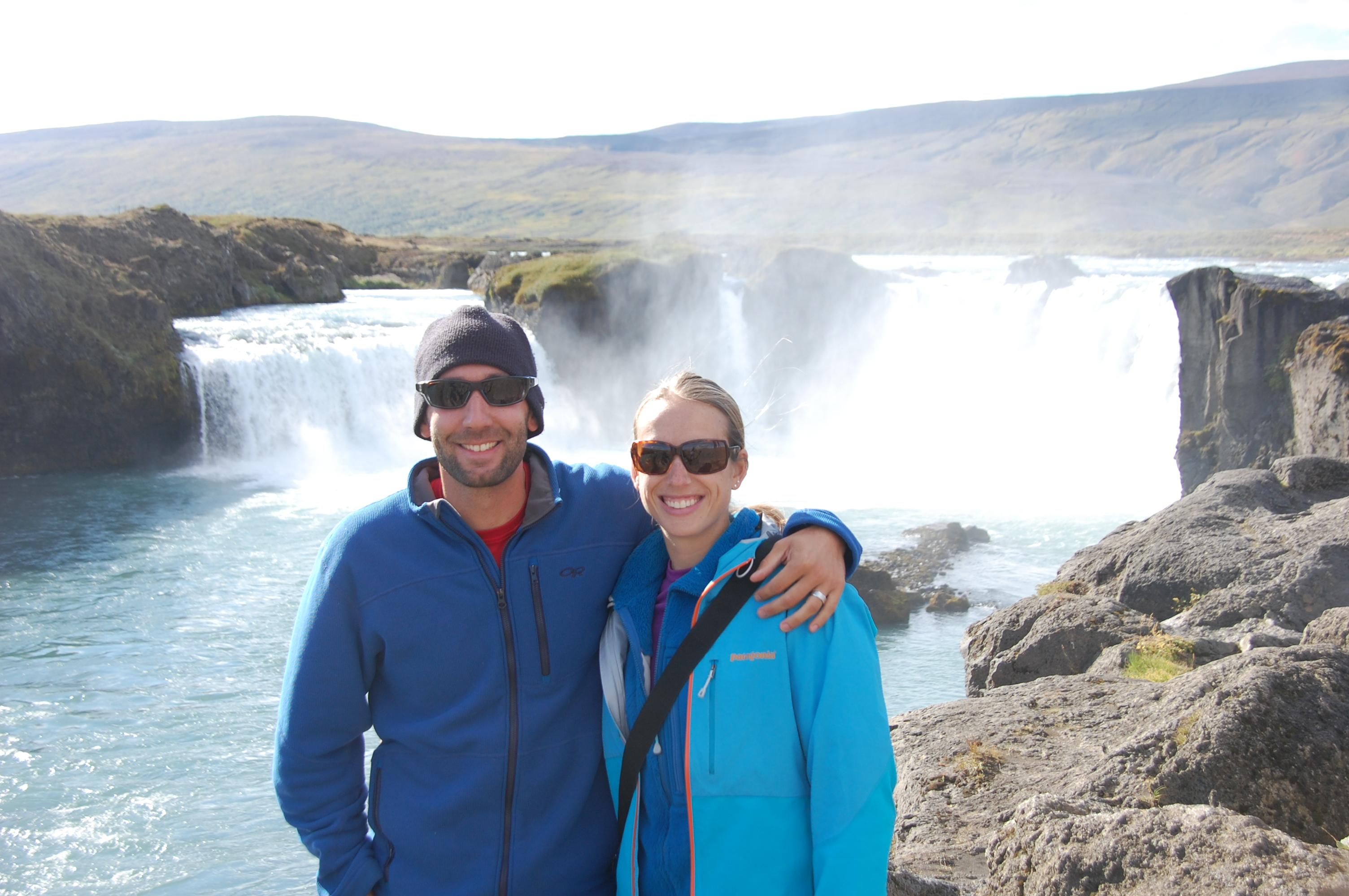Another amazing waterfall along the way, Godafoss (Waterfall of the Gods)