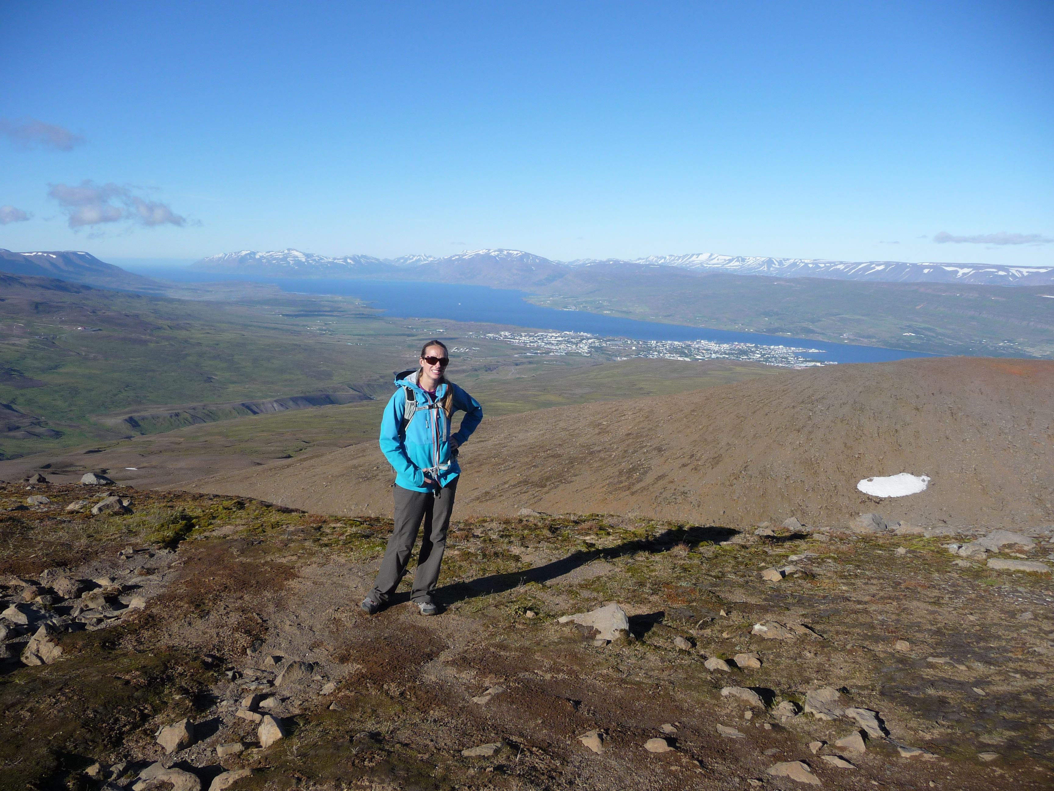 Looking back at Akureyri