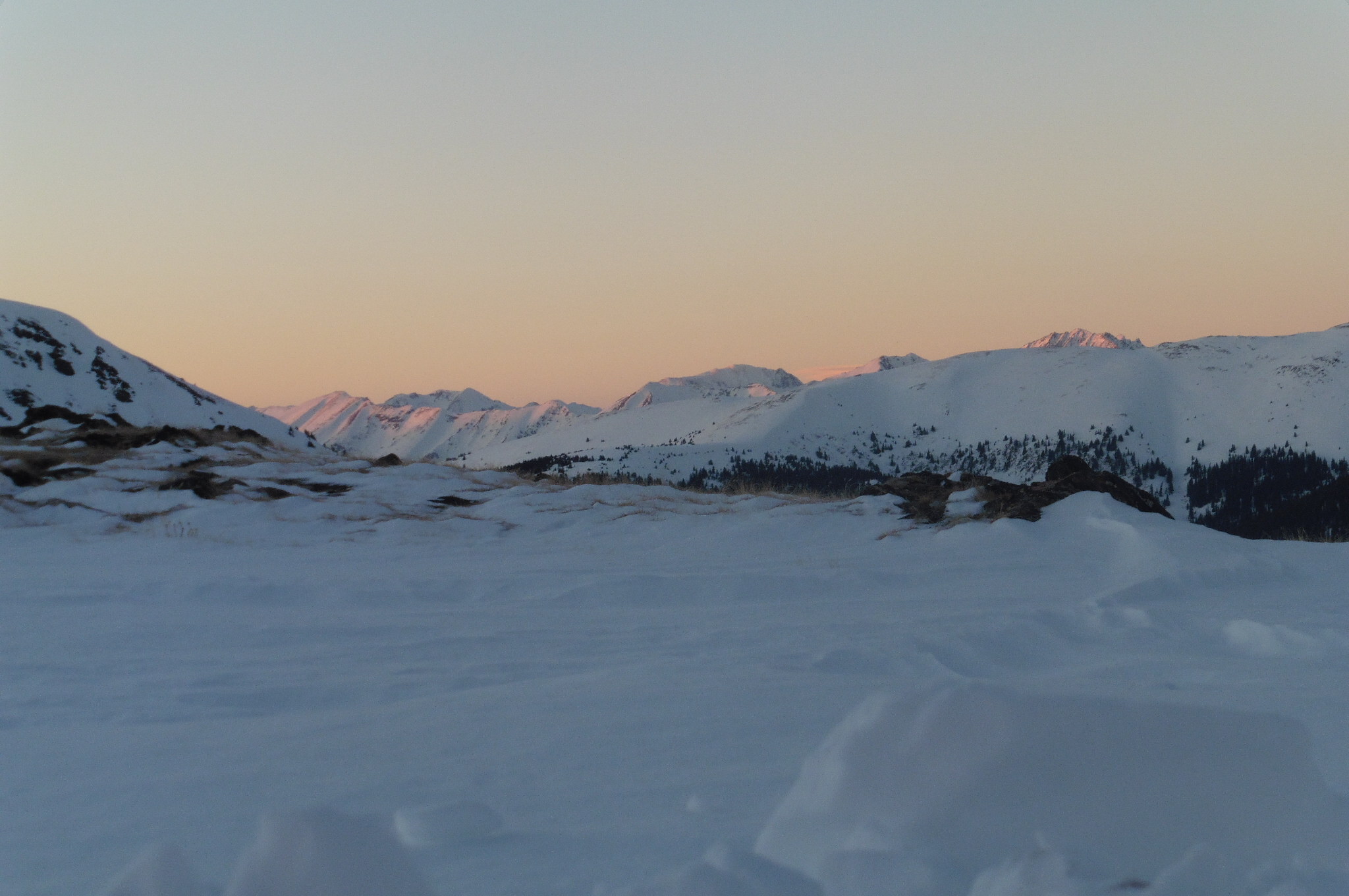 Lazy sunset pic from the comfort of my sleeping bag. Not a bad a view for lying in a tent.