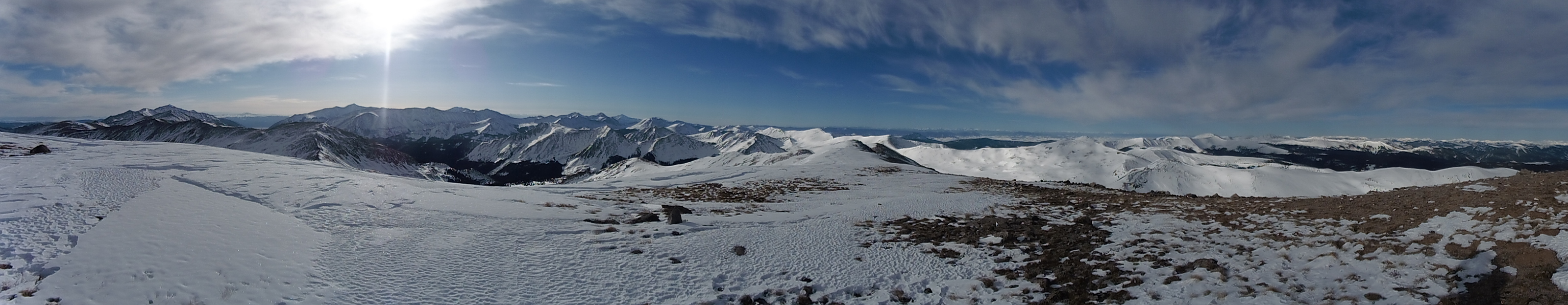 Pano looking south from Tincup Peak.