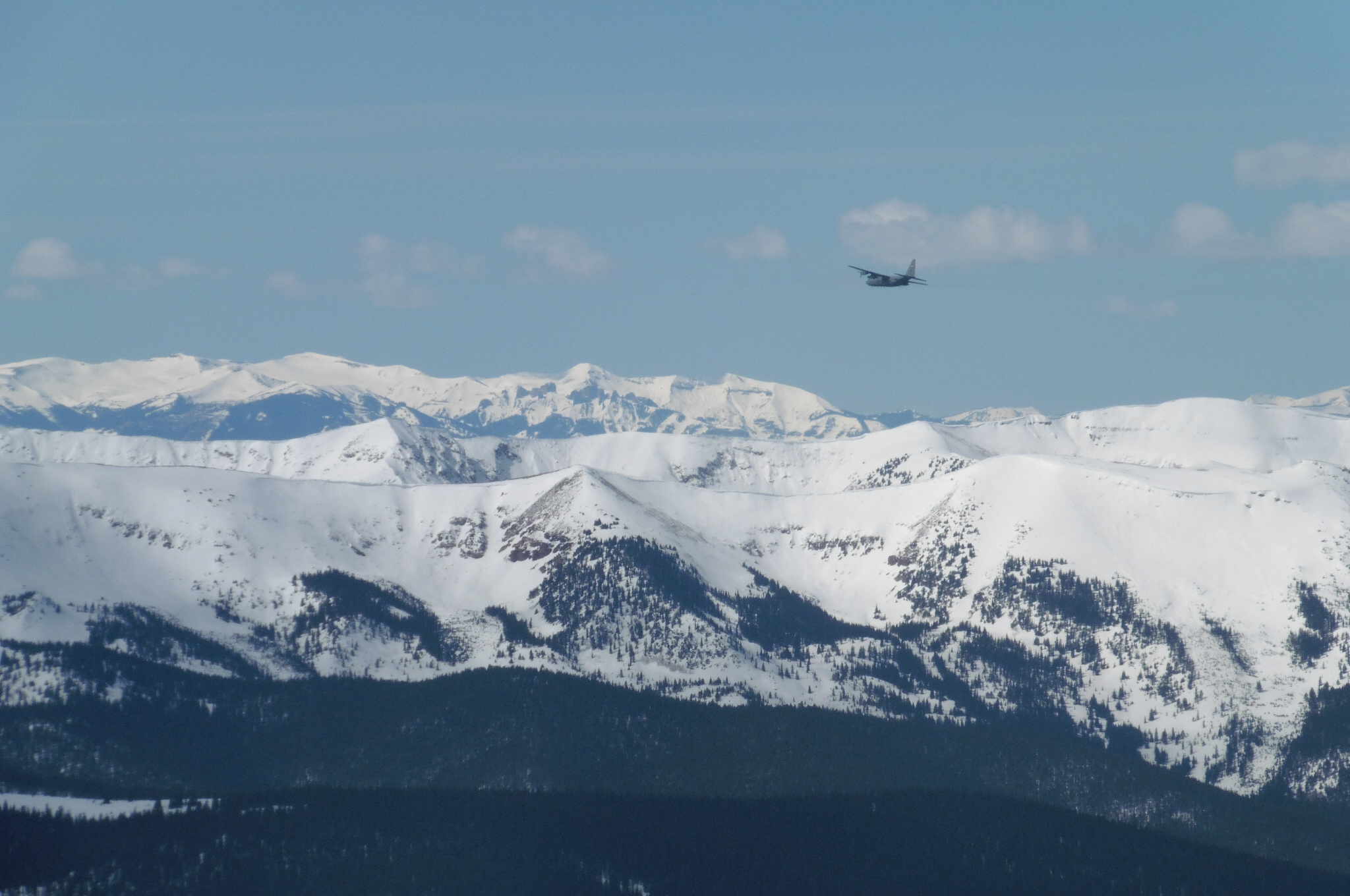 C130 buzzing the peaks