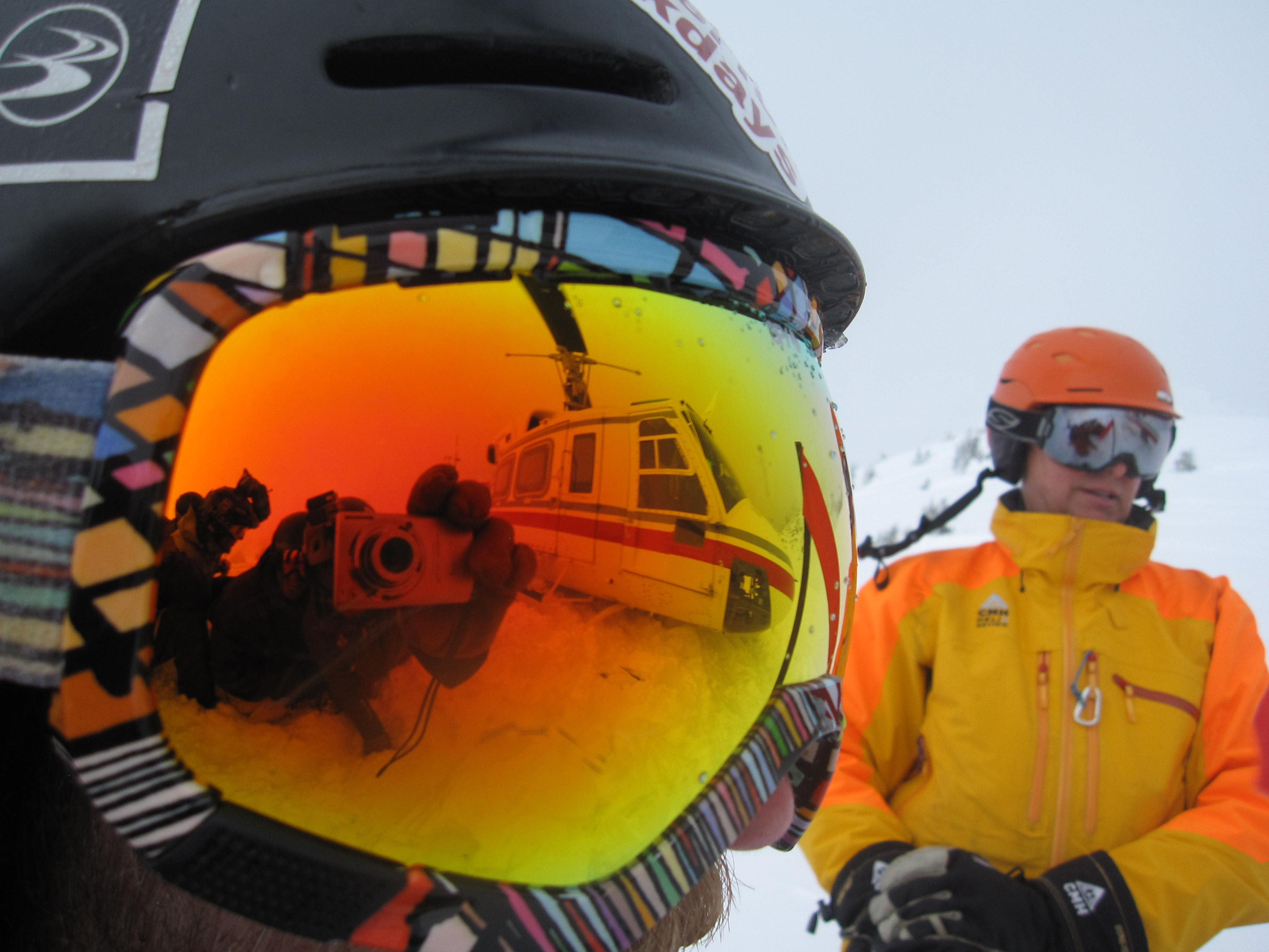 cool reflection in goggles