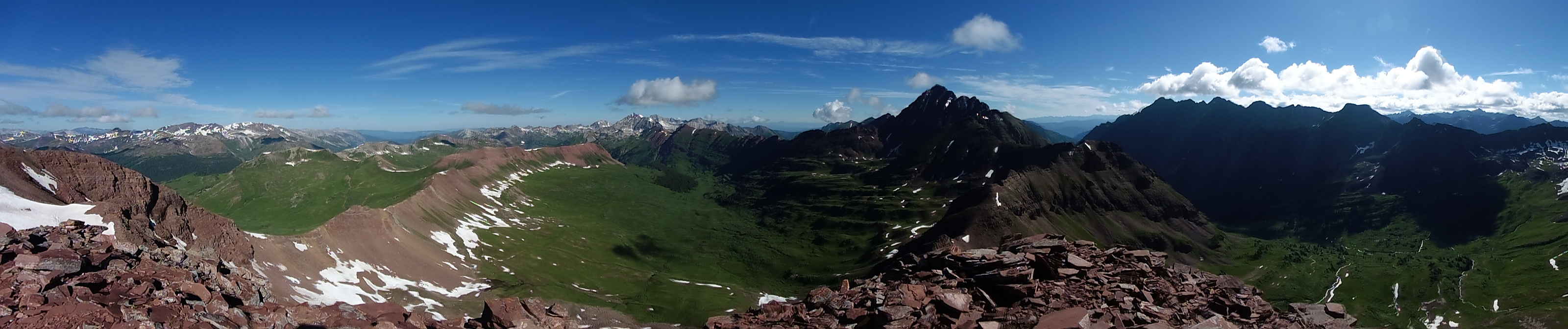Pano from Belleview's summit.