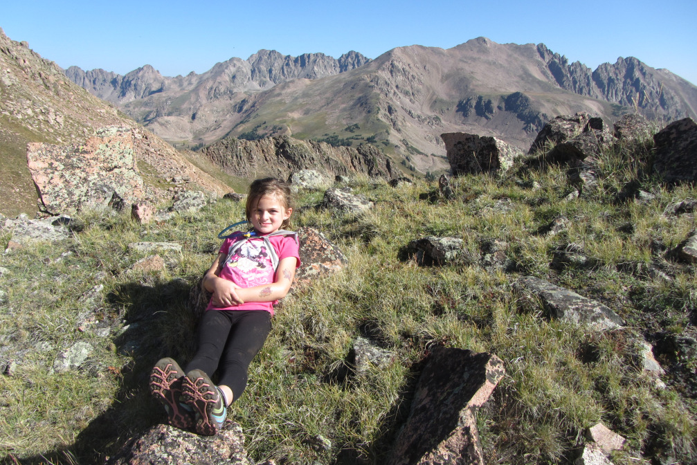 My (then) 5-year old on Eccles Pass