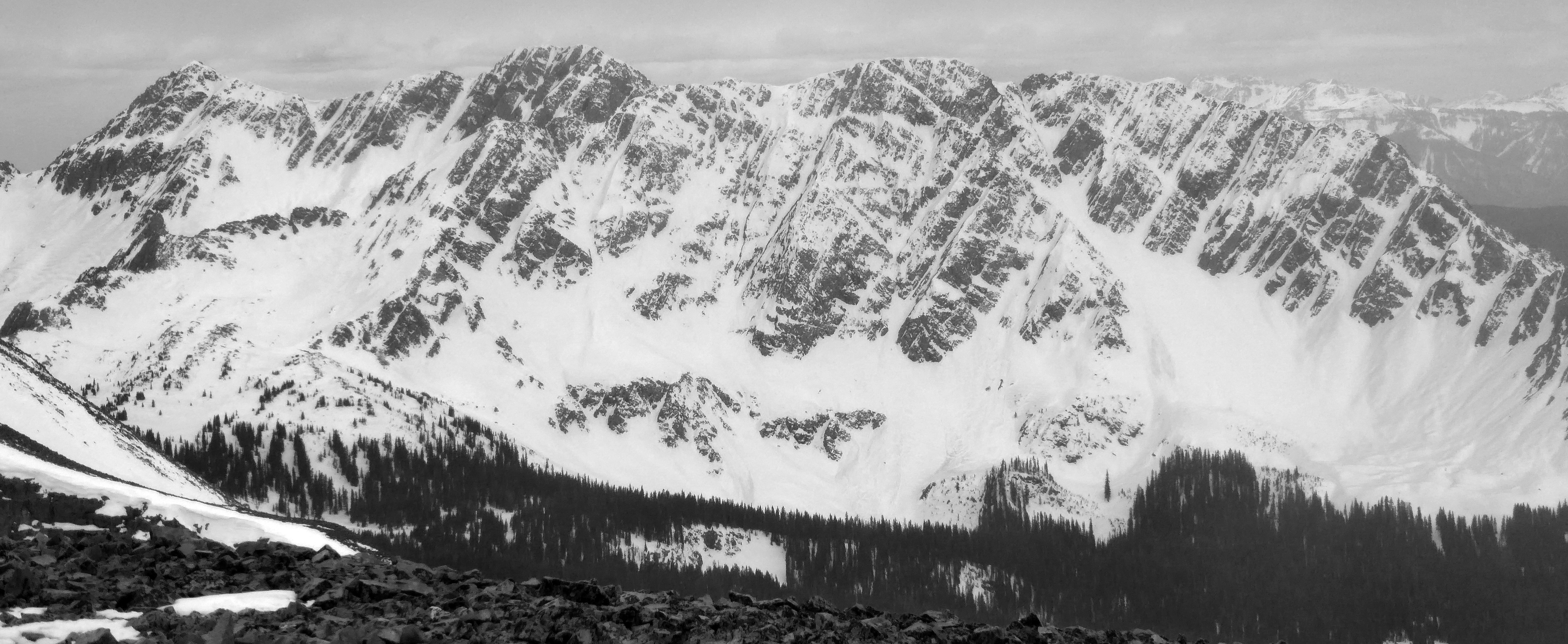 North Twilight and the Fourth of July Couloir.