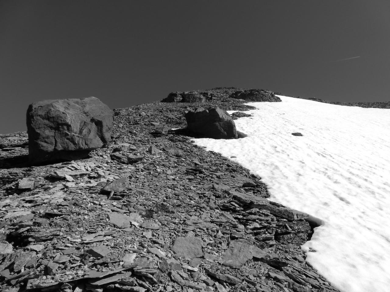 Cirque near false summit