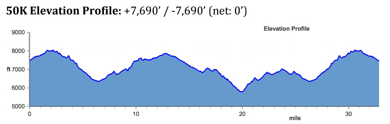 Course elevation profile.