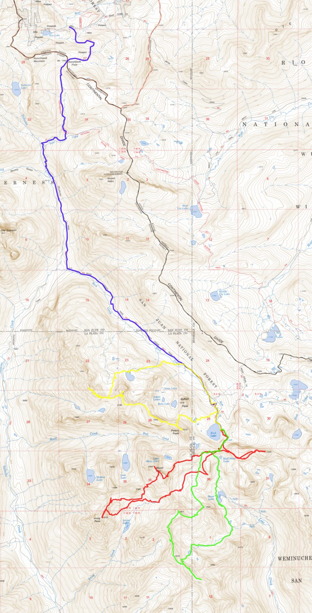 Laboring in the Weminuche: Rock Lake 13ers - Exploring the Rockies
