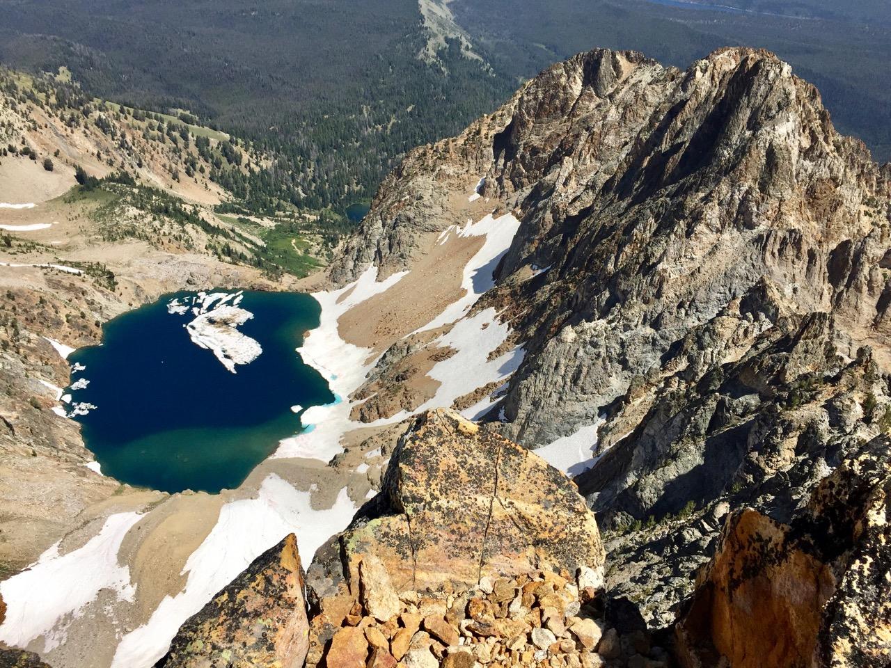 Thompson summit to lake